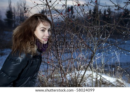girl in the winter forest