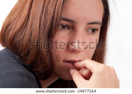 Girl In Thought - stock photo