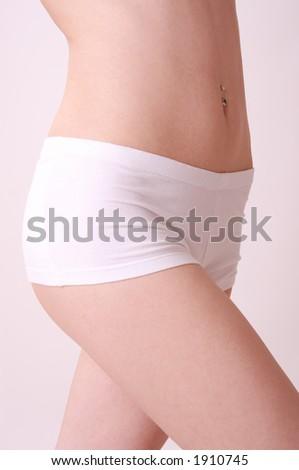 girl in underwear - stock photo