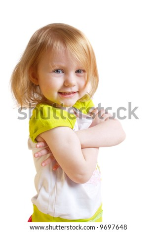 girl isolated on white