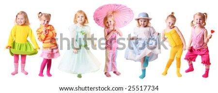 girl isolated on white background - stock photo