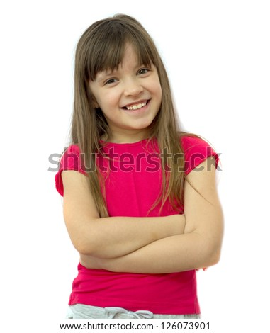 girl on a white background - stock photo