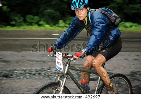 girl on mountain bike