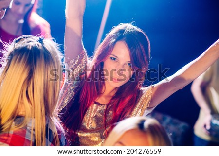 Girl on party - stock photo