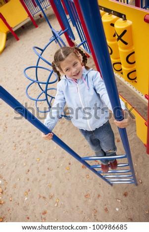 girl on playground - stock photo