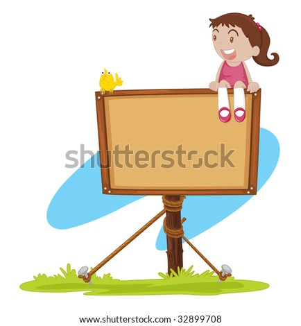 girl on sign (vector image available in portfolio)