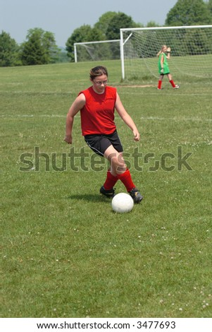 Girl on Soccer Field 30