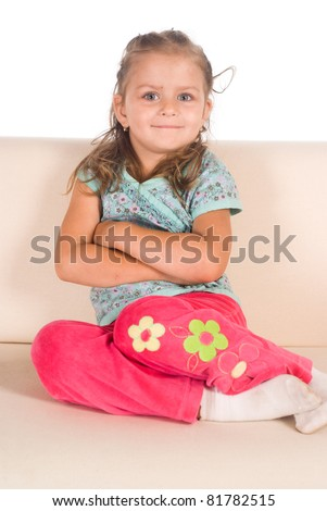 girl on sofa - stock photo