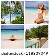 girl on the beach - stock photo