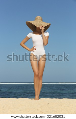 Girl on the beach  - stock photo