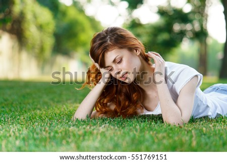 girl on the lawn, the girl on the grass