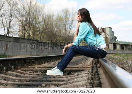 girl on the railroad