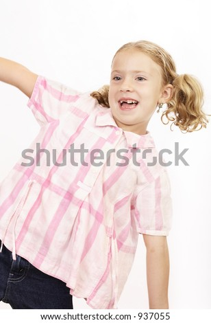Girl playing - stock photo
