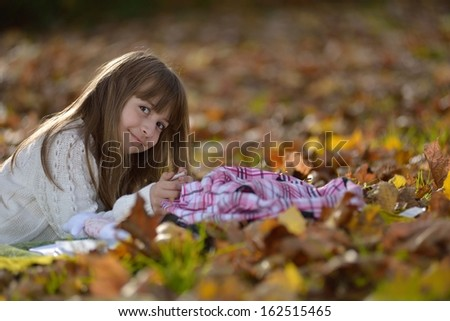 girl  playing in park - stock photo