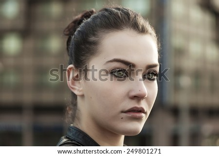 Girl portrait in the city