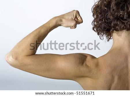 Girl power! - stock photo