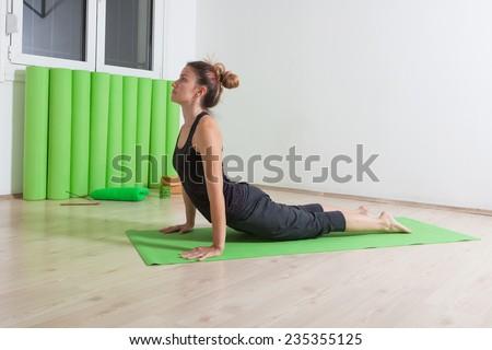 girl practicing yoga  - stock photo