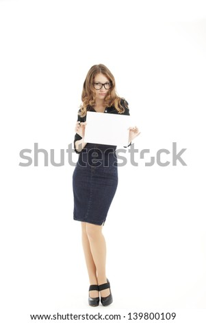 girl presenting paper with a dancing move