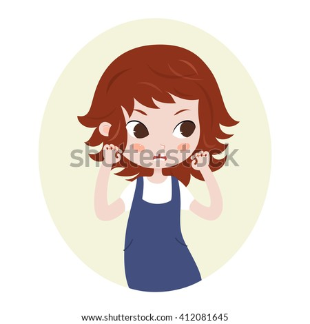 Girl pretending to be a lion. Cute horoscope. Zodiac signs. Leo. Series of cartoon zodiac characters. Horoscope for kids or teens, template for card, invitation, calendar or etc. Raster. - stock photo