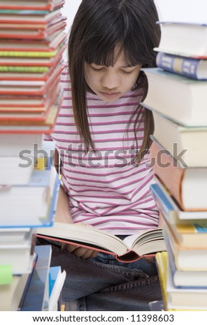 Girl read books