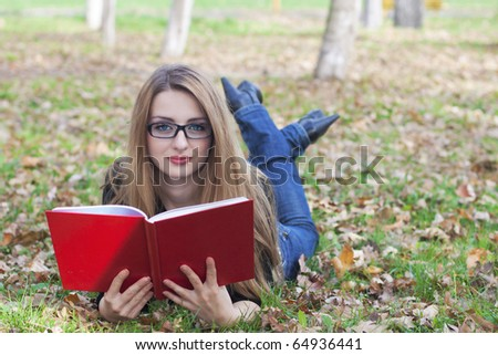 Girl reading a read book