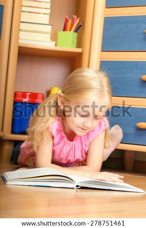 girl reads book in your room