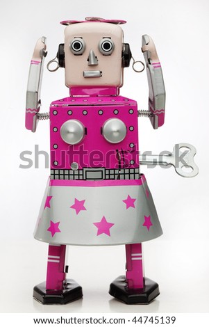 girl robot - stock photo