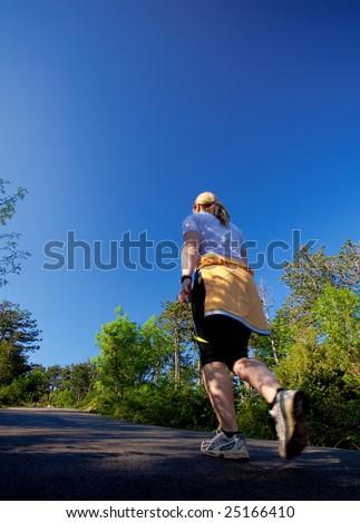 Girl running - stock photo