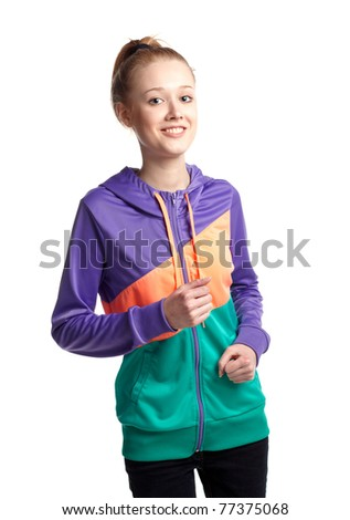 girl running - stock photo