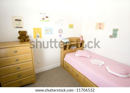 girl's bedroom - stock photo