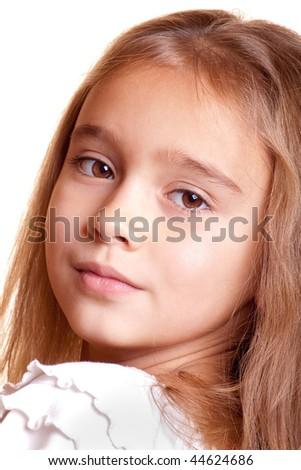 Girl's portrait - stock photo