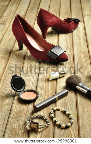 Girl's shoes - stock photo