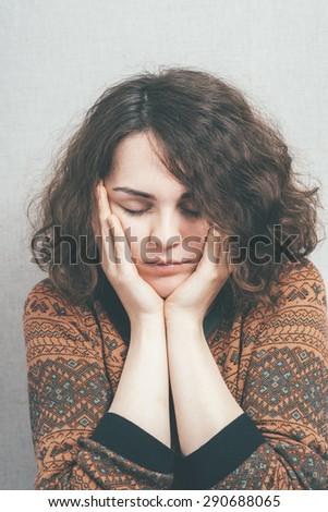 girl sad - stock photo