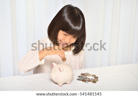 Girl save coins
