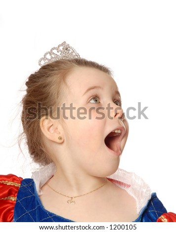 girl showing surprise - stock photo