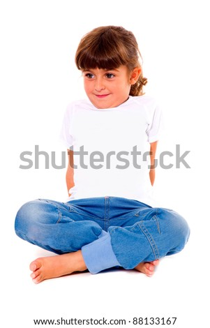 girl sitting with legs crossed