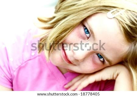 girl smiling at camera - stock photo