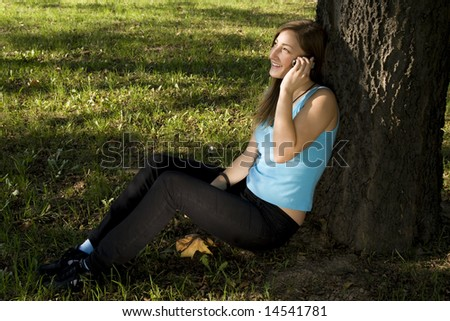 Girl talking on the cellphone - stock photo