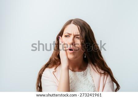girl toothache - stock photo