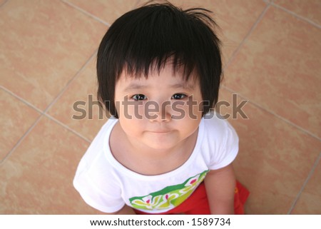 girl unhappy pouting face - stock photo