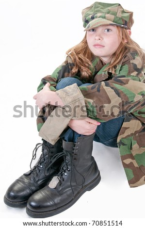 girl who wants to be in the military