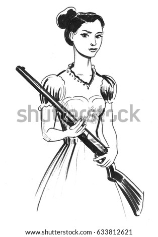 Girl with a rifle