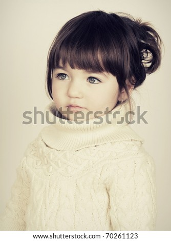 Girl with a sad eyes - stock photo