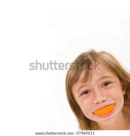 Girl with an Orange Smile