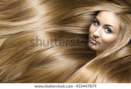 girl with blonde shining hair