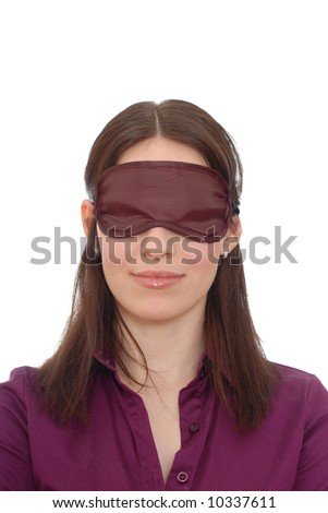 Girl with closed eyes - stock photo