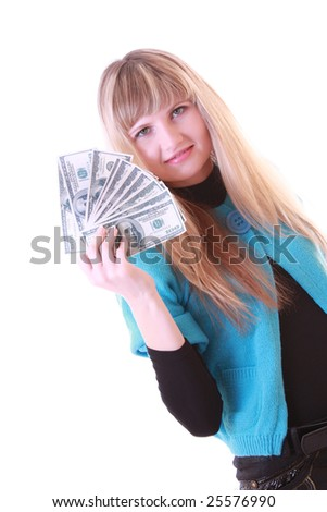 Girl with dollars