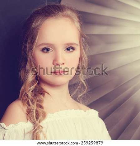Girl with fashion hairstyle - stock photo