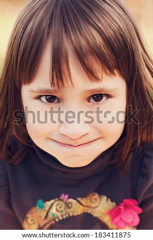 Girl with funny facial expression
