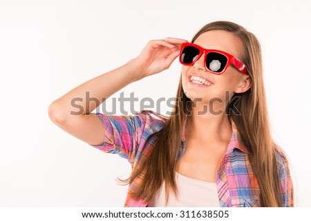 girl with funny glasses
